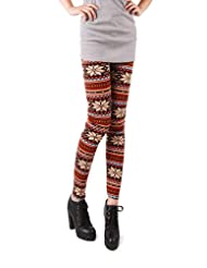 PPPERSONNE Leggings Snowflakes Footless Multi colored