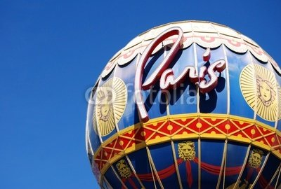"Wallmonkeys Peel and Stick Wall Decals - Close up of the Paris Hotel Balloon in Las Vegas - 24""W x 16""H Removable Graphic"