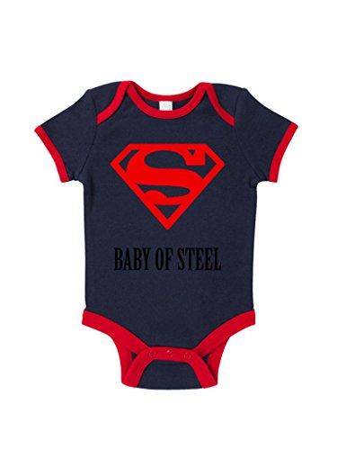 Baby Of Steel Baby Grow Halloween Novelty Gift front-915354