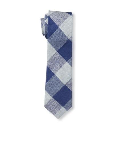 Gitman Men's Multi Check Tie, Navy