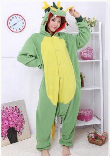 China Dragon Animal Adult Sleepwear Unisex Costumes Pajamas (Size Xl) front-828748