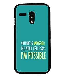 printtech Cool Quotes Success Back Case Cover for Motorola Moto G X1032::Motorola Moto G (1st Gen)