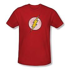 The Flash Logo Distressed Slim Fit T-Shirt