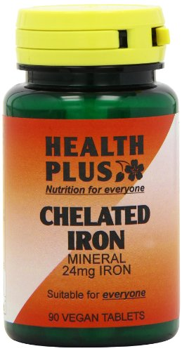 Health Plus Chelated Iron 24mg Mineral Supplement - 90 Tablets