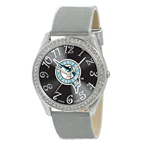 Game Time Ladies MLB-GLI-FLA Glitz Classic Analog Florida Marlins Watch by Game Time