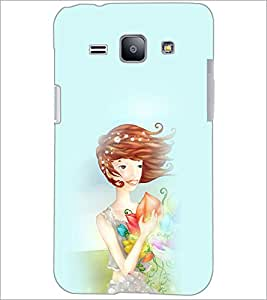 PrintDhaba SweetGirl D-4964 Back Case Cover for SAMSUNG GALAXY J1 (Multi-Coloured)