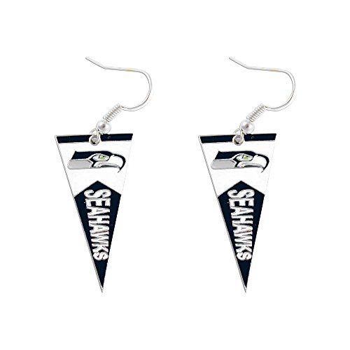 Sports-Team-Seattle-Seahawks-Pennant-Dangle-Charm-Earring-Set