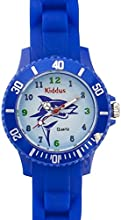 Reloj Sporty deportivo analógico de cuarzo con tiburon azul para chico niño con correa de silicona en caja de regalo, Sumergible resistente al agua (5ATM), Mecanismo Seiko, Bateria Sony, ref KI10110