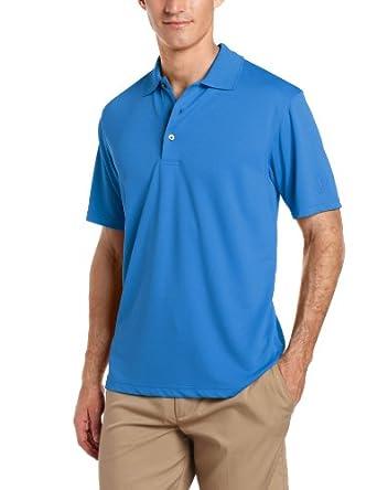PGA TOUR Mens Airflux Solid Polo Shirt Small Classic blue