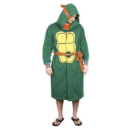 Official TMNT Hooded Costume Bathrobe Dressing Gown - Adult