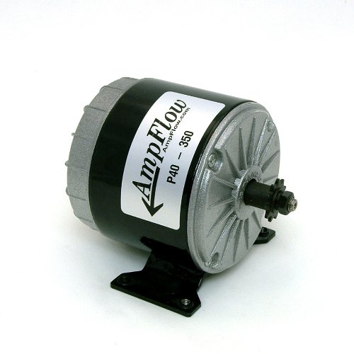 AmpFlow P40-350 Brushed Electric Motor, 350W, 12V, 24V or 36 VDC, 3500 rpm (12v Electric Motor compare prices)