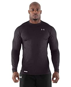 Under Armour Men's ColdGear® Fitted Long Sleeve Crew Small Carbon Heather