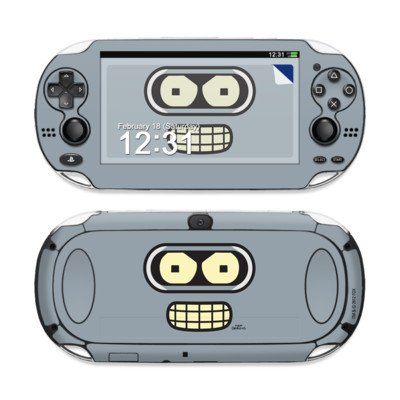 Bender Face Design Protective Decal Skin Sticker (Matte Satin Coating) For Sony Playstation Ps Vita Handheld front-619928