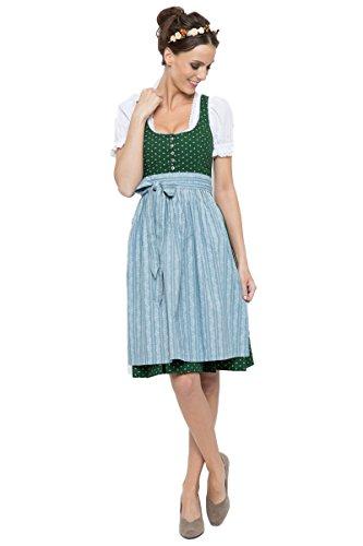Almsach Damen Midi Dirndl Irmi grün/hellblau D010250 thumbnail