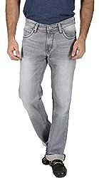 EASIES Men's Slim Fit Jeans (1098 BNDFT GRPHTGRY_34, Grey, 34)
