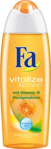 Fa Vitalize & Power Duschcreme, Vitamin B & Honigmelone, 3er Pack (3 x 250 ml)