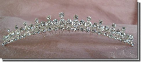 Bridal Wedding Tiara Crown With Round Crystals 71574