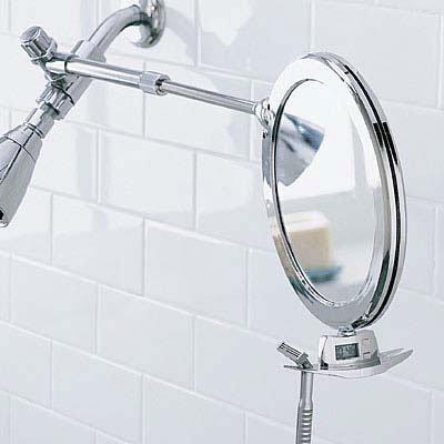 fogless shower mirror dual sided telescoping shaving toiletree bathroom razor ebay. Black Bedroom Furniture Sets. Home Design Ideas