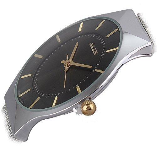 affute-ultra-thin-dial-luxury-mens-watches-analog-display-quartz-mesh-band-wrist-watchblack