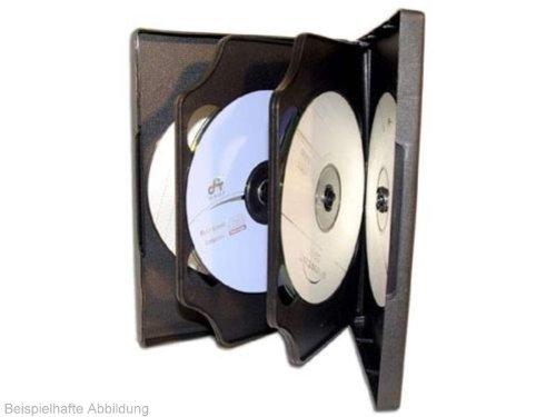 50 Custodie multiple Mediarange BOX16 187mm DVD 6 posti NERA con 2 inserti
