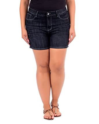 Haute 18 Plus Size Dark Denim Short