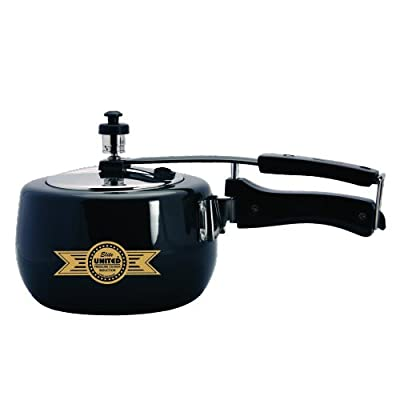 United Elite hard anodised induction base with Stainless steel lid Pressure Cooker 3 Ltr