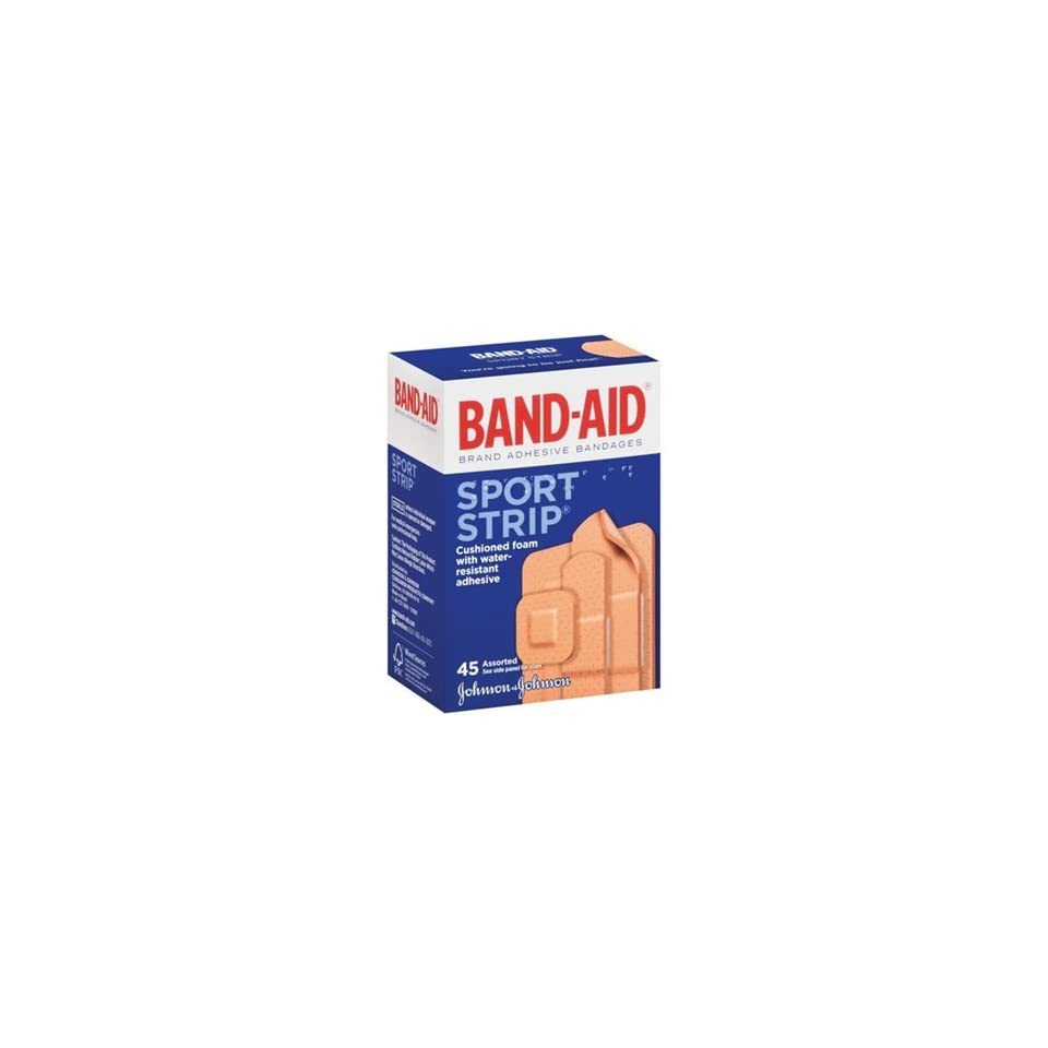 Band aid Brand Adhesive Bandages, Sport Strip, Assorted Sizes, Variety Pack, 45ct Each (Pack of 6)