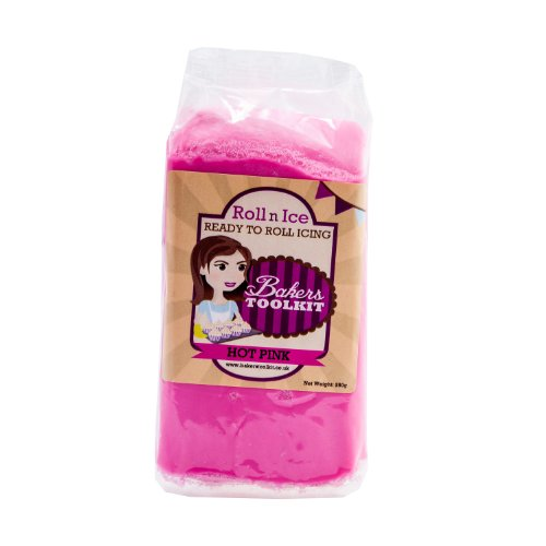 Bakers Toolkit Hot Pink Roll 'n' Ice Roll 'n' Ice Profi Rollfondant - 250g