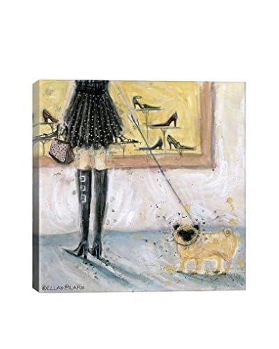 Bella Pilar Dog Day: Pug Gallery Wrapped Canvas Print