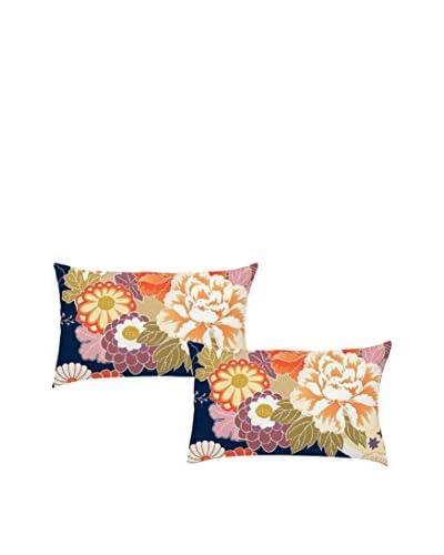 JAPAN MANIA by MANIFATTURE COTONIERE Set Funda De Almohada 2 Uds. Kimono Beige/Multicolor