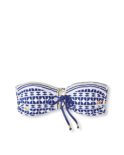 Trina Turk Women's Racquet Club Bandeau Bikini Top