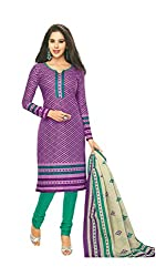 Miraan Womens Cotton Unstitched Dress Material (Sg229 _Purple)