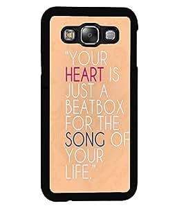 PrintVisa Metal Printed Quotes Designer Back Case Cover for Samsung Galaxy E5-D4986