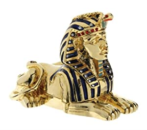 Sphinx Jeweled Box - Collectible Egyptian Decoration Jewelry Container