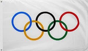 Amazon.com : International Olympic Games Flag 3' x 5' Banner : Patio