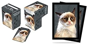 Ultra-Pro Grumpy Cat Deck Box + 100 Sleeves Set (fits Magic/MTG, Pokemon Cards)