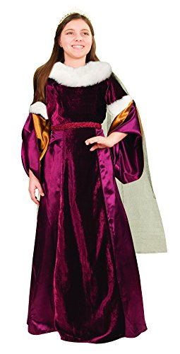 Queen Guinevere Girls Renaissance Costume Medieval Gown Halloween Dress