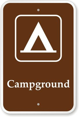 """Campground (With Graphic) Sign, 18"""" X 12"""" front-1069959"""