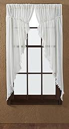 Tobacco Cloth Antique White Prairie Curtain (set of 2) 63x36x18 by Nancy\'s Nook