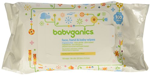 Babyganics Face, Hand and Baby Wipes, Fragrance Free, 100 ct - 1