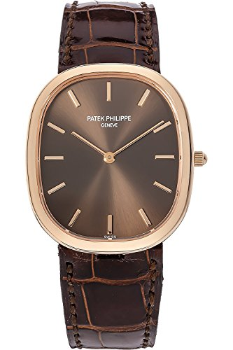 patek-philippe-golden-ellipse-yellow-gold-watch-on-brown-leather-strap