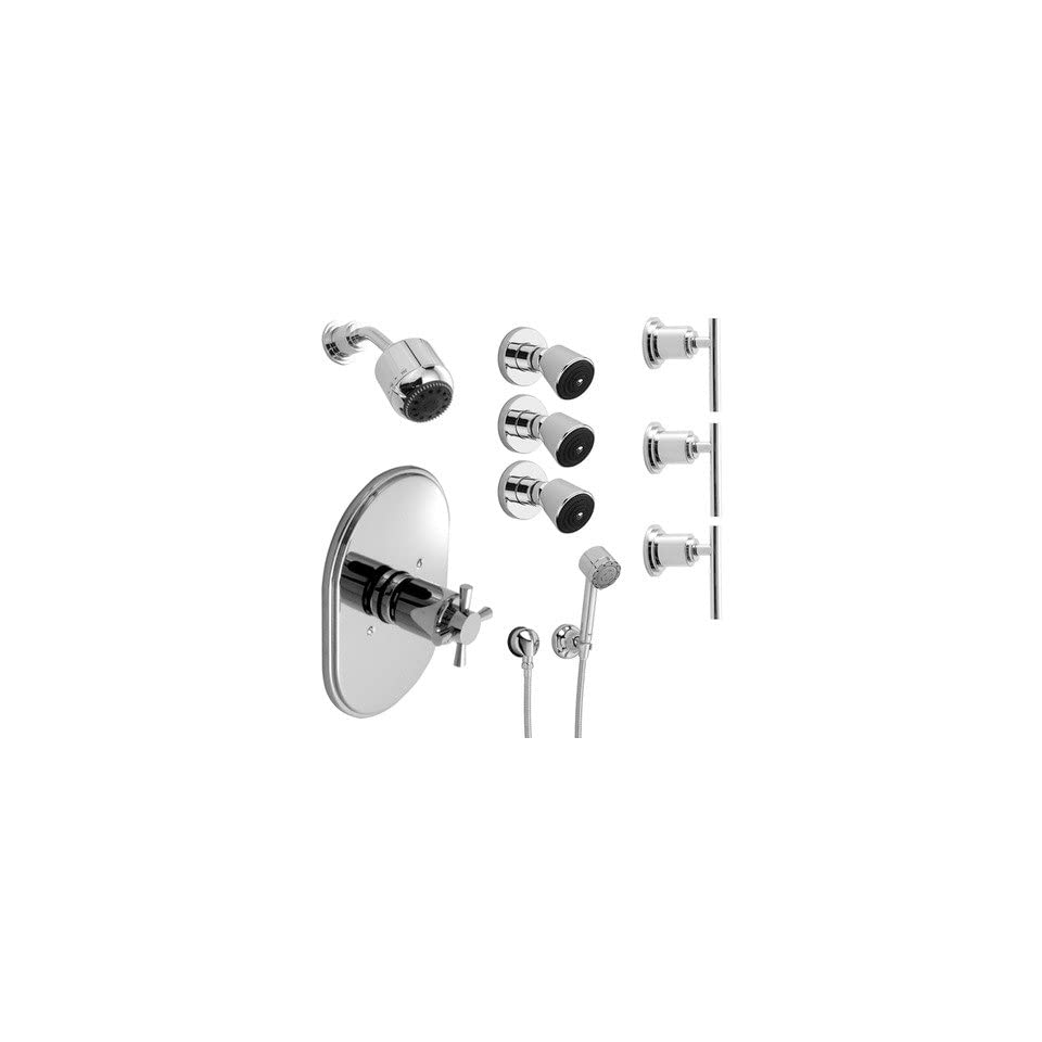 New Haven Thermostatic Complete Shower System 05 Finish Polished Chrome, Handle Type Lever