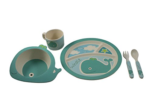 EcoBamboo Ware Kids Bamboo Dinnerware Set, Whale (Bamboo Dishes compare prices)