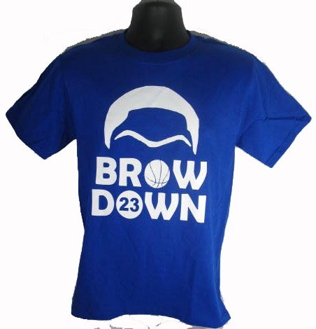 Brow Down Kentucky Basketball Davis Wildcats Anthony Royal Blue T Shirt Tee Small
