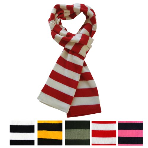 Knitting Vertical Stripes Different Colors : Trendsblue premium soft knit striped scarf different