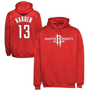Majestic James Harden Houston Rockets Name & Number Pullover Hoodie - Red by Majestic