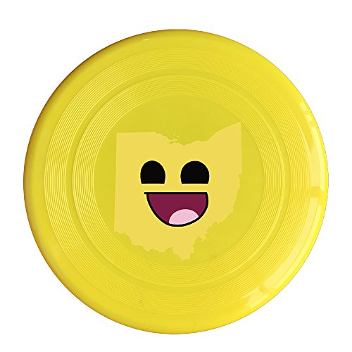 funny-emoji-face-ohio-state-map-plastic-flying-discs-sport-disc-one-size-yellow