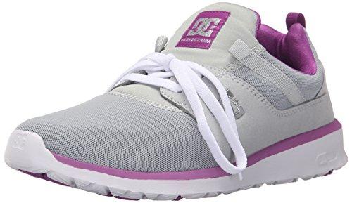 DC Women's Heathrow Skate Shoe, Armor/Purple, 6.5 M US