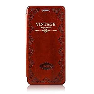 iPhone6/6s plus Case Cover,Modern Vintage Book Style Case for Iphone 6/6s plus, Premium PU Leather Smart Case Slim Fit Multi Angle Stand (iPhone 6/6s plus brown)