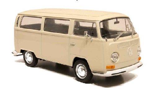 VW-T2-Bus-beige-1972-Modellauto-Fertigmodell-Welly-124